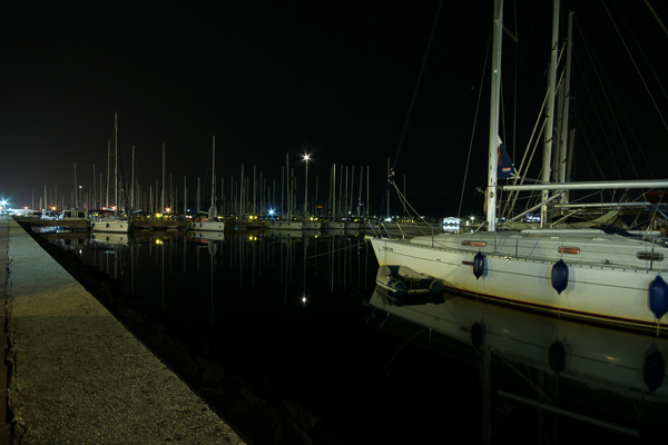 Marina Sukošan at night